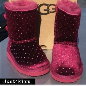 Special Edition UGG Toddler Red Velvet Boot